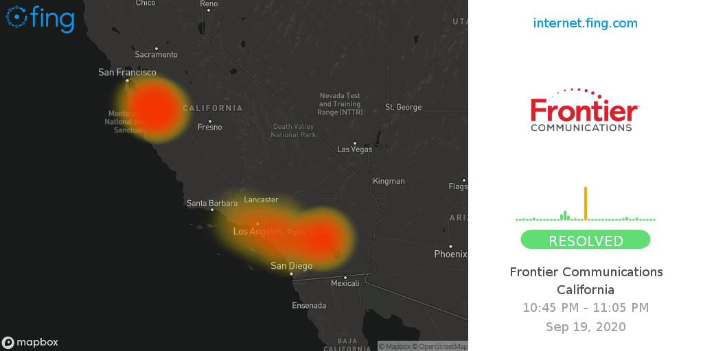 Internet Outage of Frontier Communications in California ...